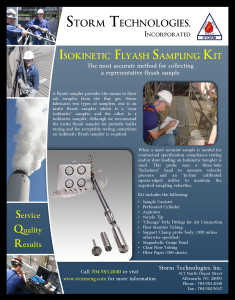 Isokinetic Flyash Sampling Kit 2013 Brochure